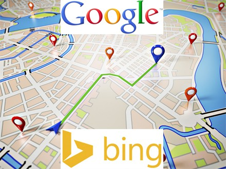 Google and Bing Local Map